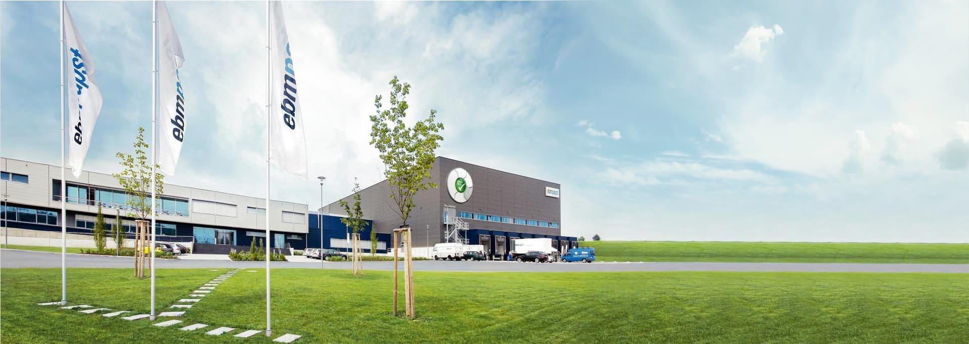 Завод ebmpapst в городе Mulfingen Германия